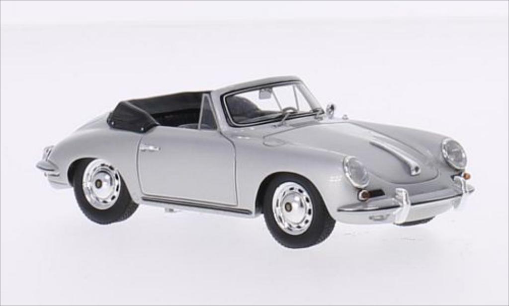 Porsche 356 1/43 Spark Carrera 2 Cabriolet gris miniatura