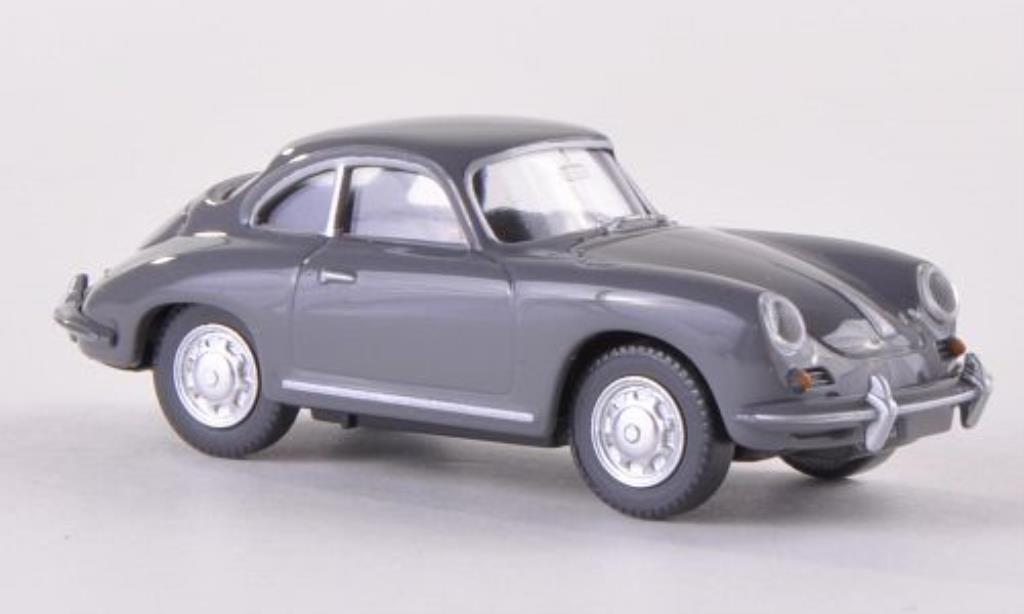 Porsche 356 1/87 Wiking SC Coupe grise miniature