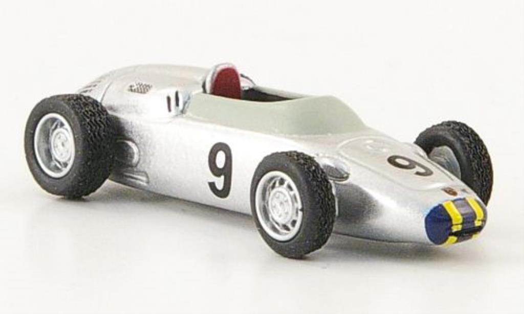 Porsche 718 1/87 Bub Formel 2 No.9 J.Bonnier grey diecast model cars
