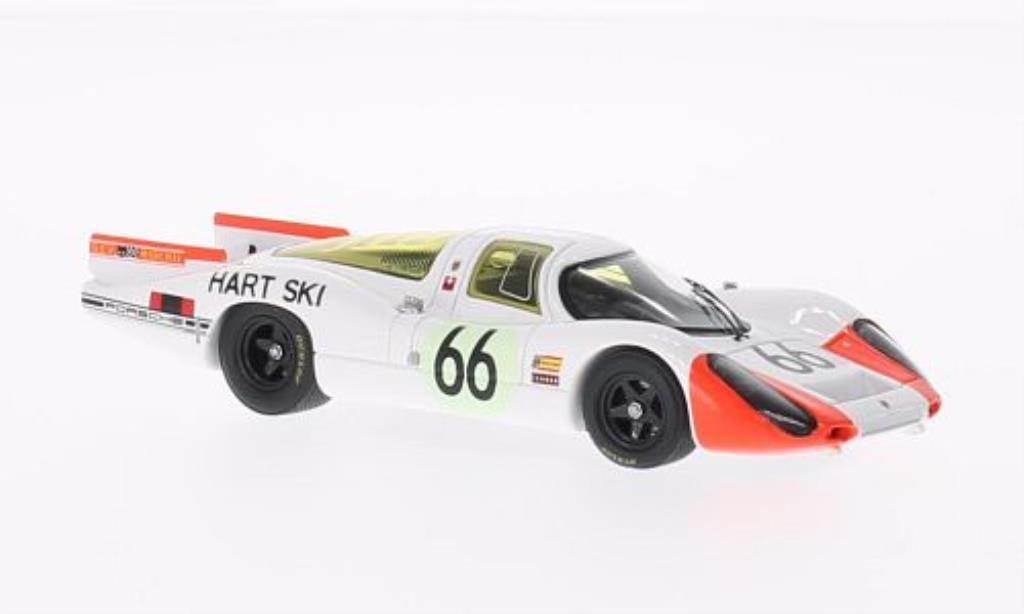 Porsche 907 1/43 Spark No.66 24h Le Mans 1968 /R.Steinemann miniature