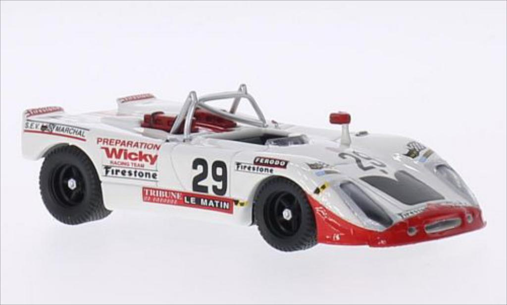 Porsche 908 Flunder RHD No.29 Wicky Racing Team 24h Le Mans 1971 /M.Cohen Best. Porsche 908 Flunder RHD No.29 Wicky Racing Team 24h Le Mans 1971 /M.Cohen miniature 1/43