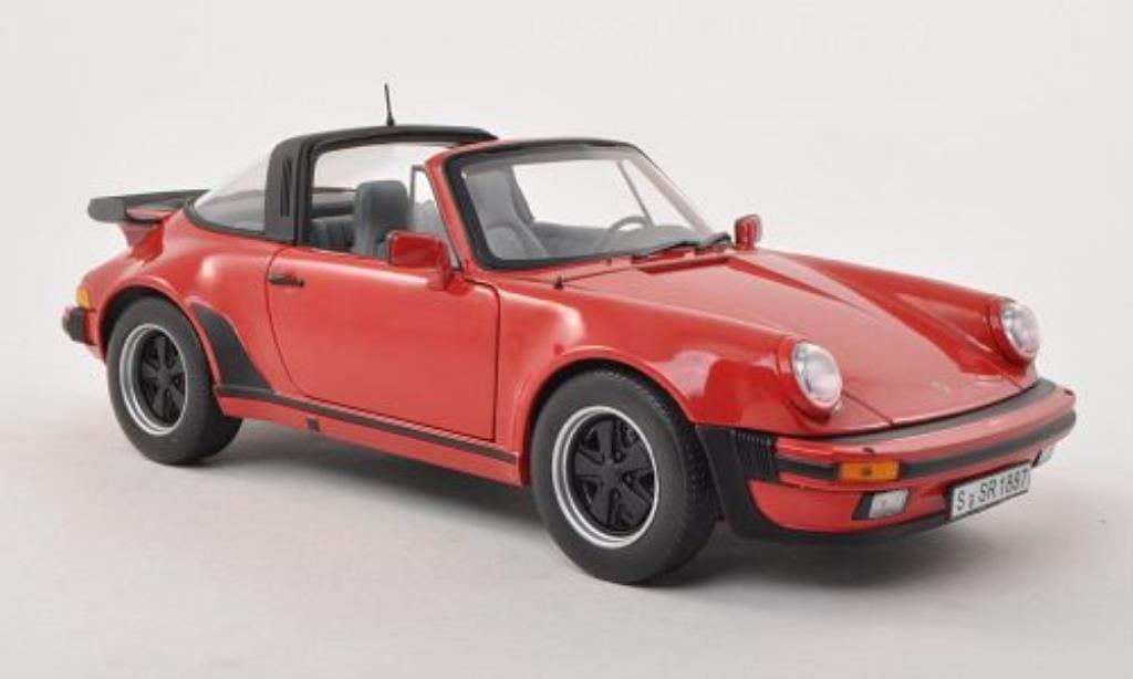 Porsche 911 3.3 Turbo Targa rot 1987 Norev. Porsche 911 3.3 Turbo Targa rot 1987 modellauto 1/18