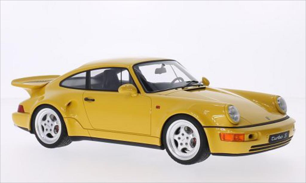 porsche 964 turbo s gelb mcw modellauto 1 18 kaufen verkauf modellauto online. Black Bedroom Furniture Sets. Home Design Ideas