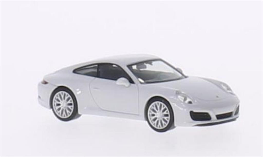 Porsche 991 S 1/87 Herpa Carrera metallise white 2015 diecast model cars