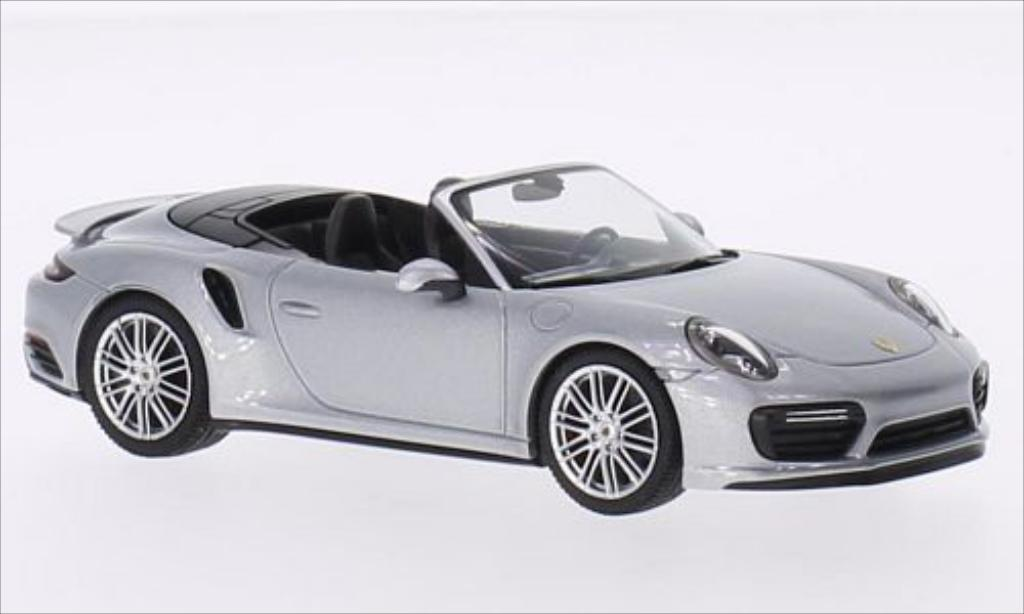 porsche 991 turbo cabrio silber mcw modellauto 1 43 kaufen verkauf modellauto online. Black Bedroom Furniture Sets. Home Design Ideas