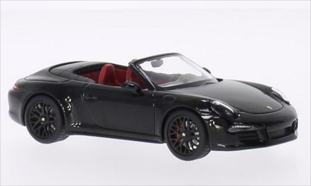 Porsche 991 GTS 1/43 Schuco Carrera 4 Cabrio black/black 2014 diecast model cars