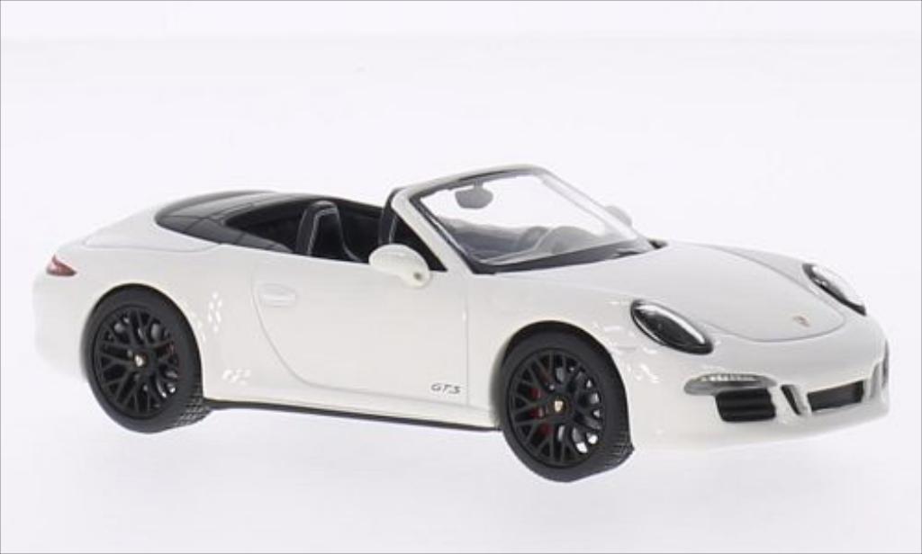 Porsche 991 GTS 1/43 Schuco Carrera Cabrio blanche/noire 2014