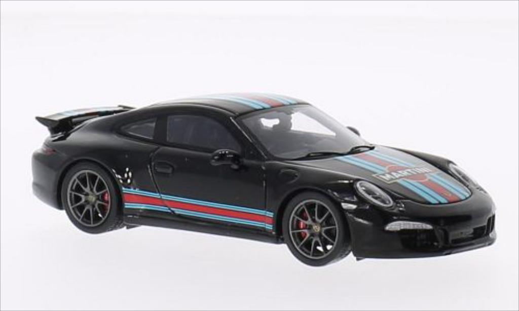 Porsche 991 S 1/43 Spark Carrera Aerokit black 2014 diecast model cars