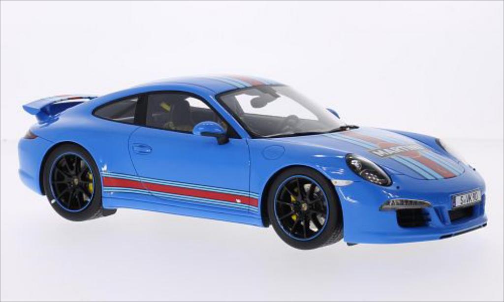 Porsche 991 Carrera S blau Martini 2014 MCW. Porsche 991 Carrera S blau Martini 2014 modellauto 1/18