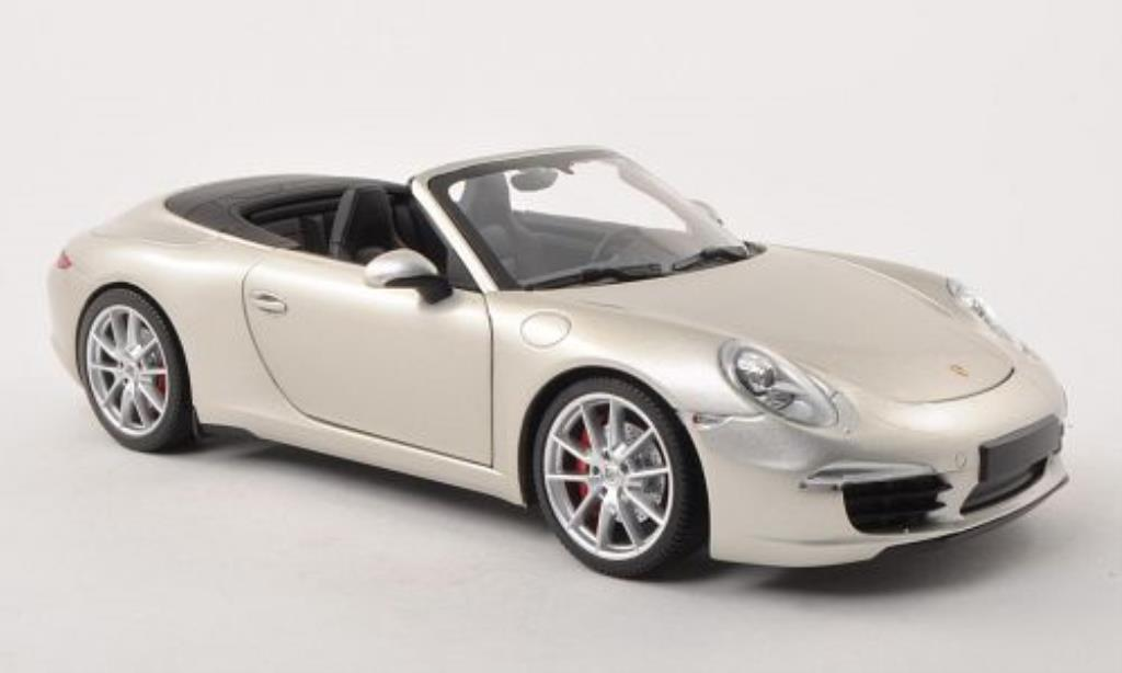 Porsche 991 S 1/18 Minichamps Carrera Cabriolet grey 2011 diecast model cars