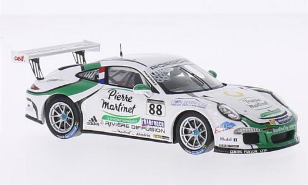 Porsche 991 GT3 Cup 1/43 Spark No.88 Team Martinet Almeras Carrera Cup Frankreich 2014 diecast model cars