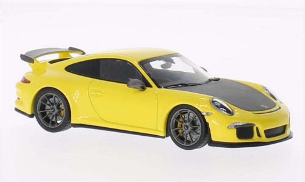 porsche 991 gt3 gelb matt grau 2014 mcw modellauto 1 43 kaufen verkauf modellauto online. Black Bedroom Furniture Sets. Home Design Ideas