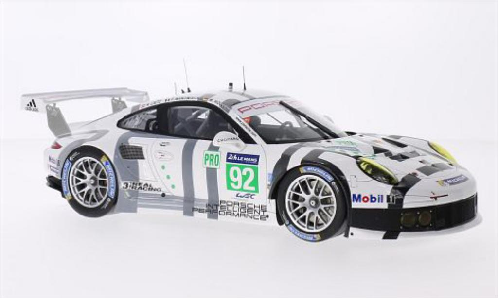 Porsche 991 R 1/18 Spark No.92 Team Manthey Le Mans 2014 miniature