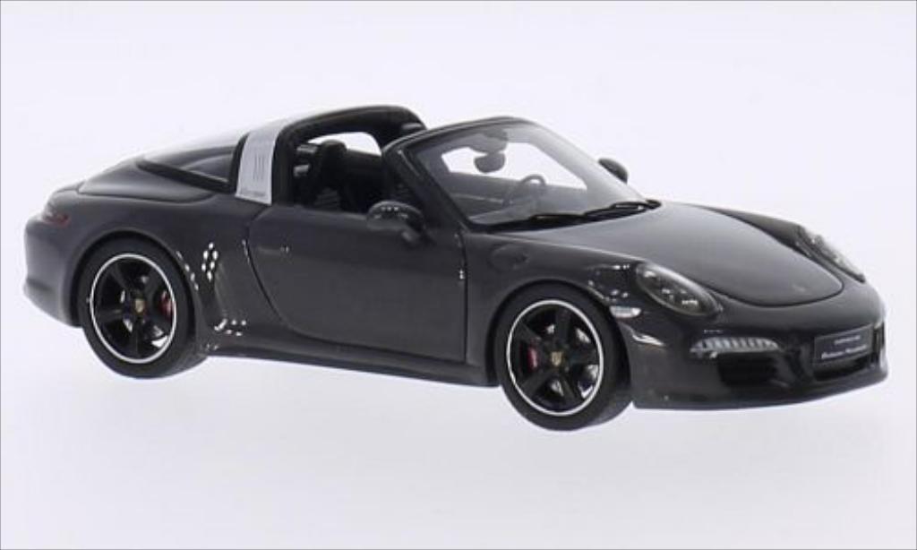 Porsche 991 Targa 4S dunkelgrau MCW. Porsche 991 Targa 4S dunkelgrau modellauto 1/43