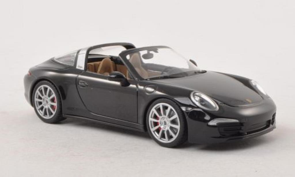 Porsche 991 Targa 1/43 Minichamps 4S black diecast model cars