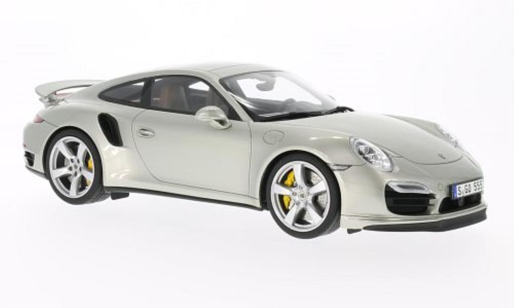 porsche 991 turbo s silber mcw modellauto 1 18 kaufen verkauf modellauto online. Black Bedroom Furniture Sets. Home Design Ideas