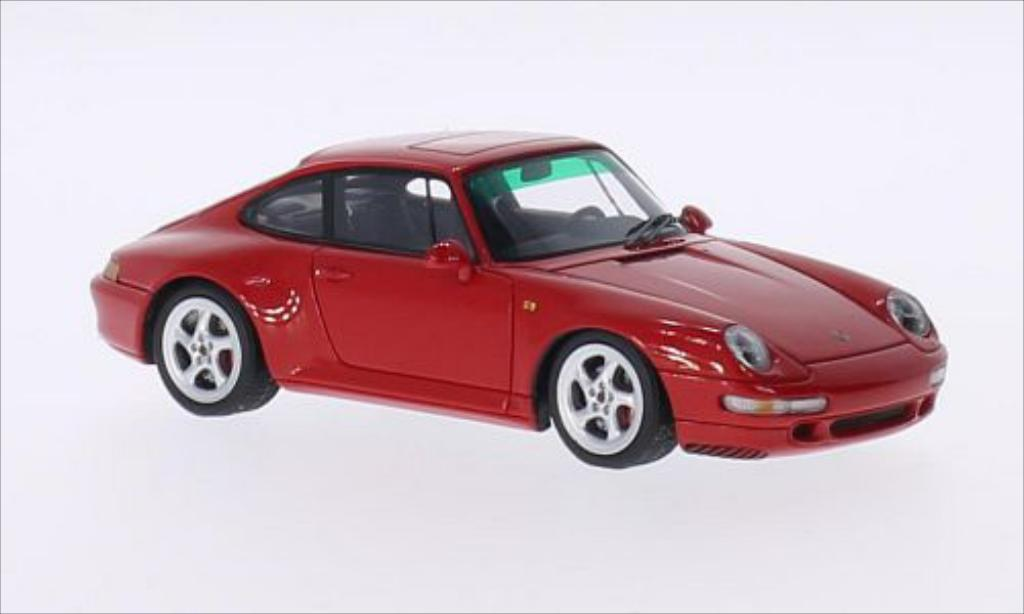 Porsche 993 Carrera 4S red Spark. Porsche 993 Carrera 4S red miniature 1/43