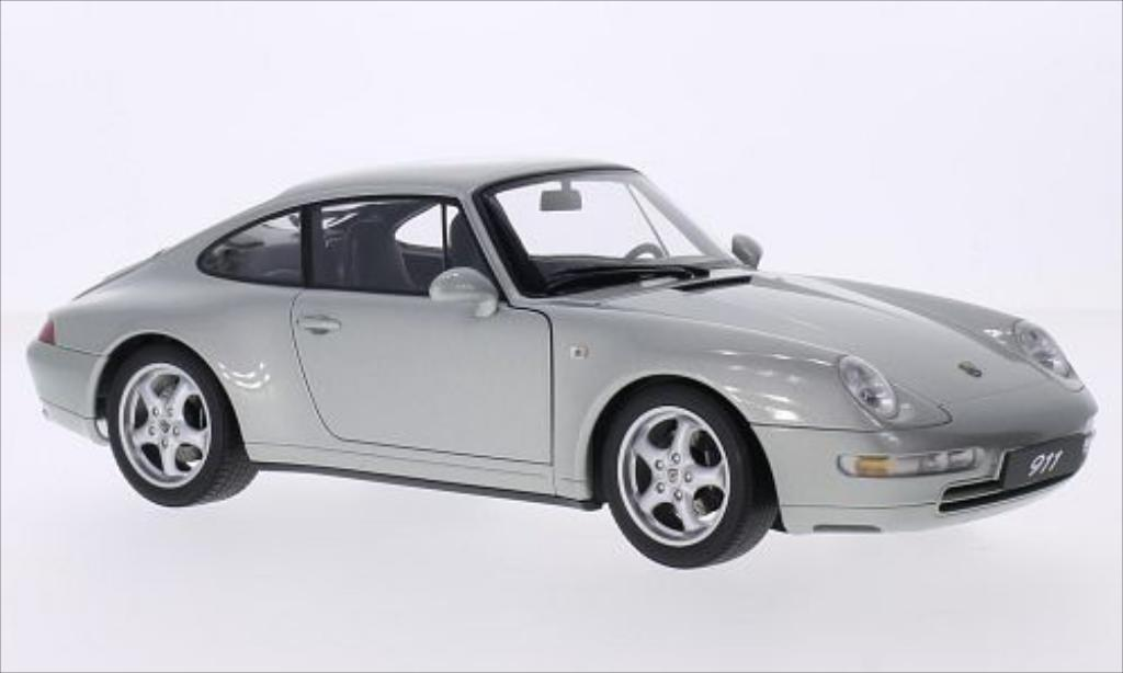 porsche 993 carrera silber 1995 autoart modellauto 1 18. Black Bedroom Furniture Sets. Home Design Ideas