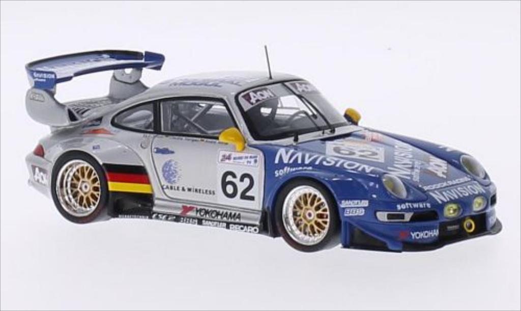 Miniature Porsche 993 GT2 No.62 Roock Racing Navision 24h Le Mans 1999 /A.Ahrle Spark. Porsche 993 GT2 No.62 Roock Racing Navision 24h Le Mans 1999 /A.Ahrle miniature 1/43