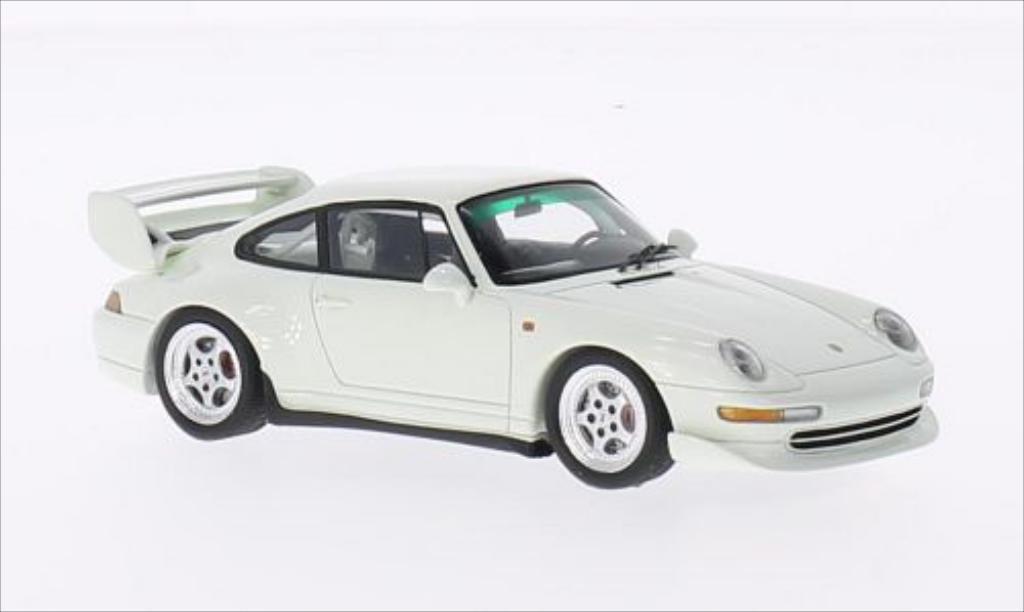 Porsche 993 1/43 Spark Club Sport blanche 1995 miniature