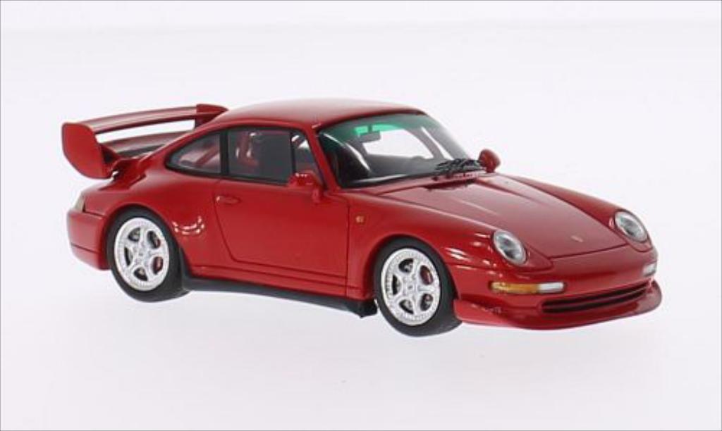 Porsche 993 1/43 Spark  Clubsport rouge miniature