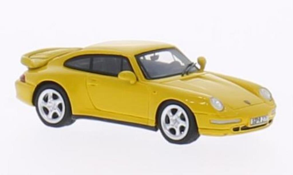 Porsche 993 Turbo 1/87 Minichamps jaune 1995 miniature