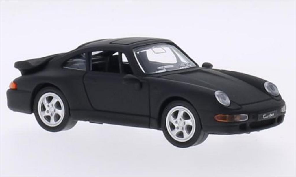 Porsche 993 Turbo matt-schwarz 1996 MCW. Porsche 993 Turbo matt-schwarz 1996 modellauto 1/43