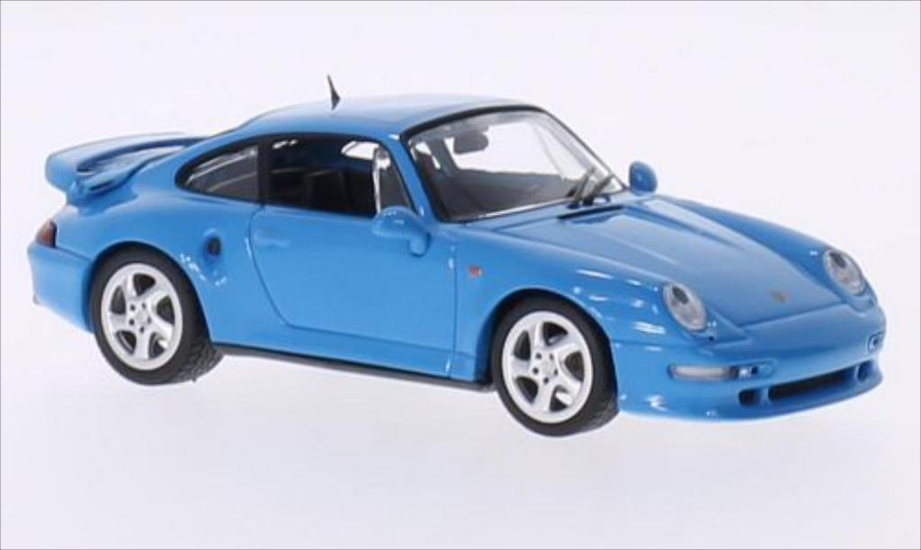 Porsche 993 Turbo 1/43 Minichamps S 3.6 bleu 1998 miniature