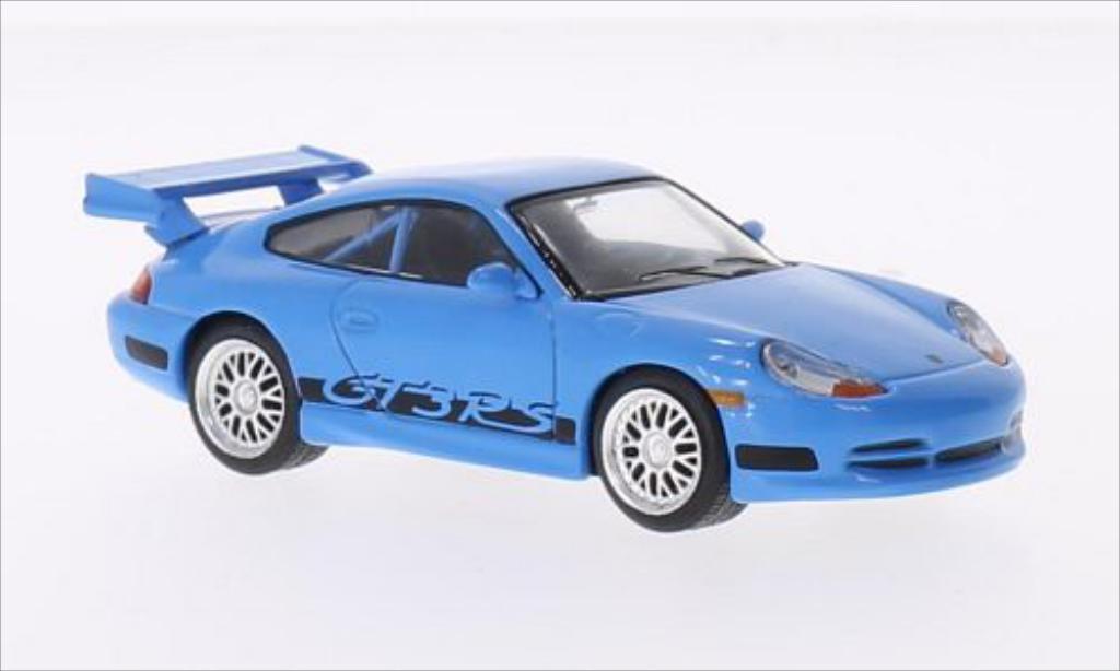 Porsche 996 GT3 1/43 Greenlight Carrera bleu/Dekor 2001 miniature