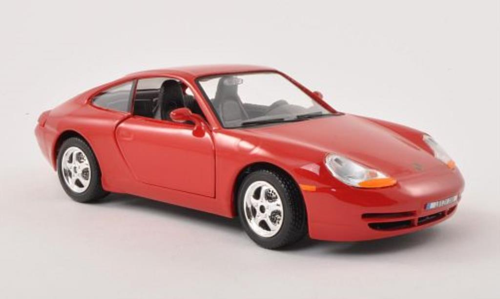porsche 996 carrera rot burago modellauto 1 24 kaufen verkauf modellauto online. Black Bedroom Furniture Sets. Home Design Ideas