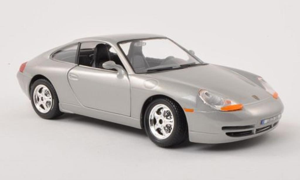 Porsche 996 Carrera 1/24 Burago grise miniature