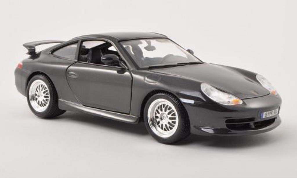 Porsche 996 GT3 1/18 Burago grey 1997 diecast model cars