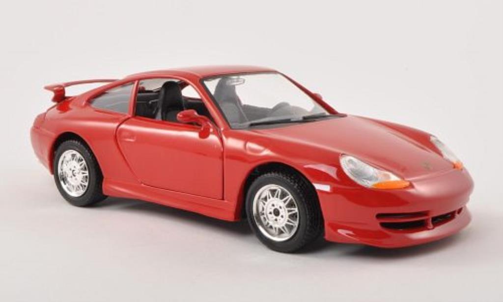 Porsche 996 GT3 red Burago. Porsche 996 GT3 red miniature 1/24