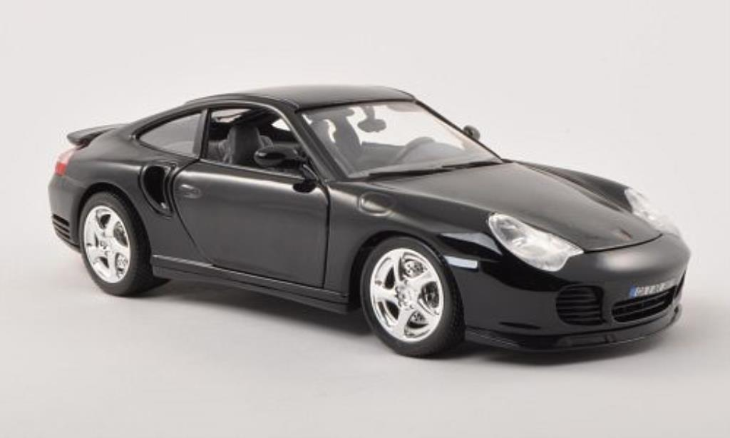 Porsche 996 Turbo black Burago. Porsche 996 Turbo black miniature 1/18