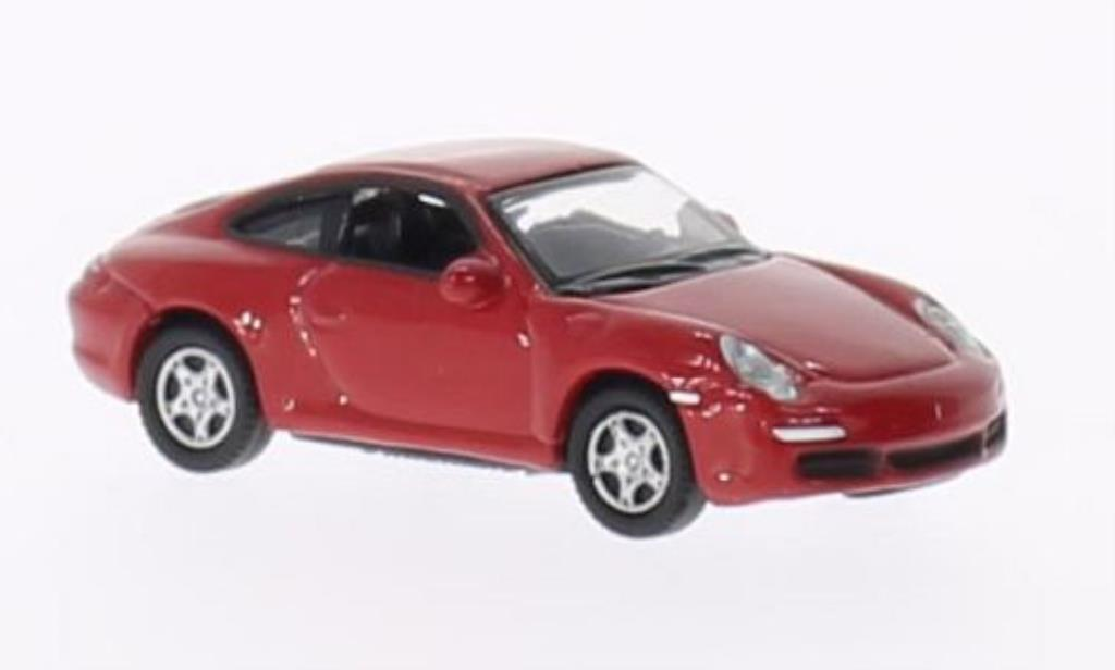 Porsche 997 S 1/87 Welly Carrera Coupe red diecast model cars