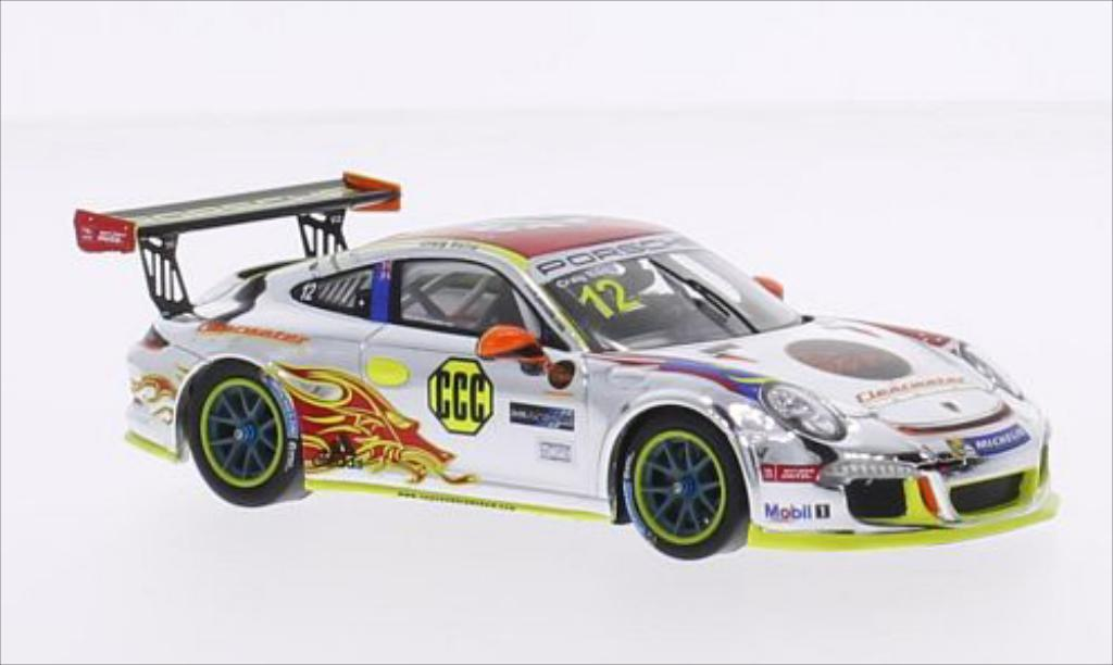 Miniature Porsche 997 GT3 Cup No.12 Clearwater Racing Carrera Cup Asia 2015 Spark. Porsche 997 GT3 Cup No.12 Clearwater Racing Carrera Cup Asia 2015 miniature 1/43