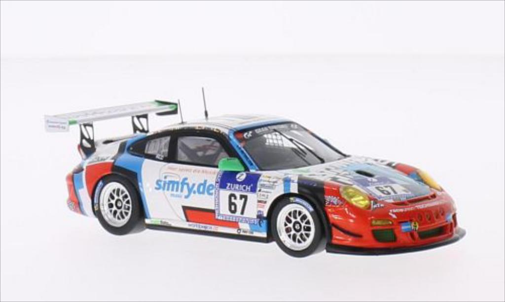 Porsche 997 GT3 CUP 1/43 Spark GT3 Cup No.67 Teichmann Racing Raceunion 24h Nurburgring 2014 /S.van diecast model cars