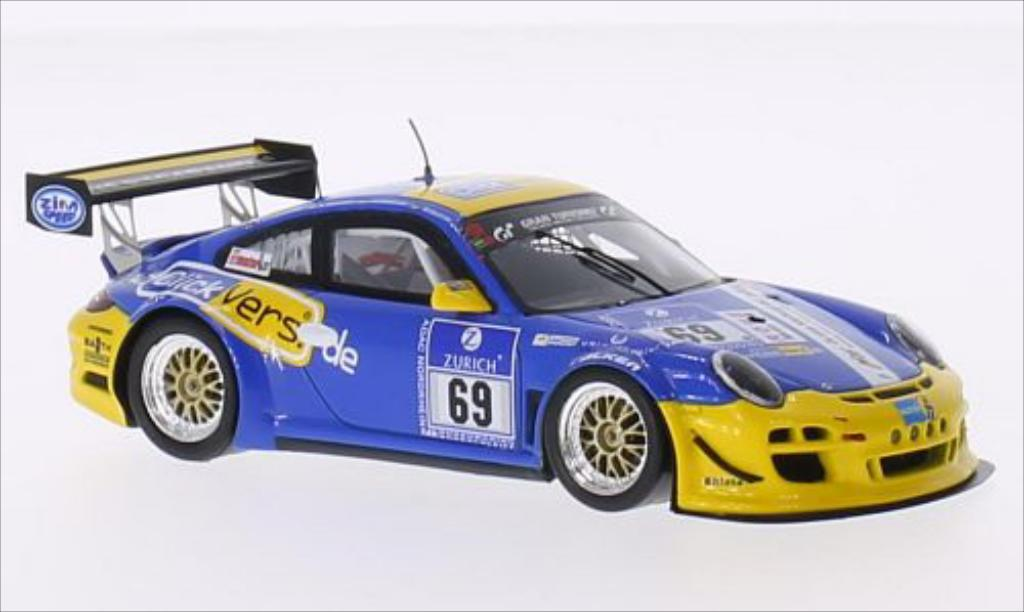 Porsche 997 GT3 CUP 1/43 Spark GT3 Cup No.69 Click vers.de Team 24h Nurburgring 2015 /R.Chrzanowski coche miniatura