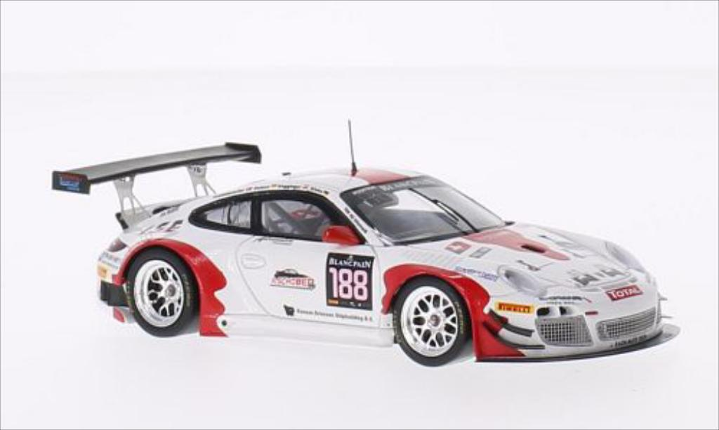 Porsche 997 GT3 1/43 Spark R No.188 Fach Auto Tech 24h Spa 2014 /S.Dolenc diecast model cars