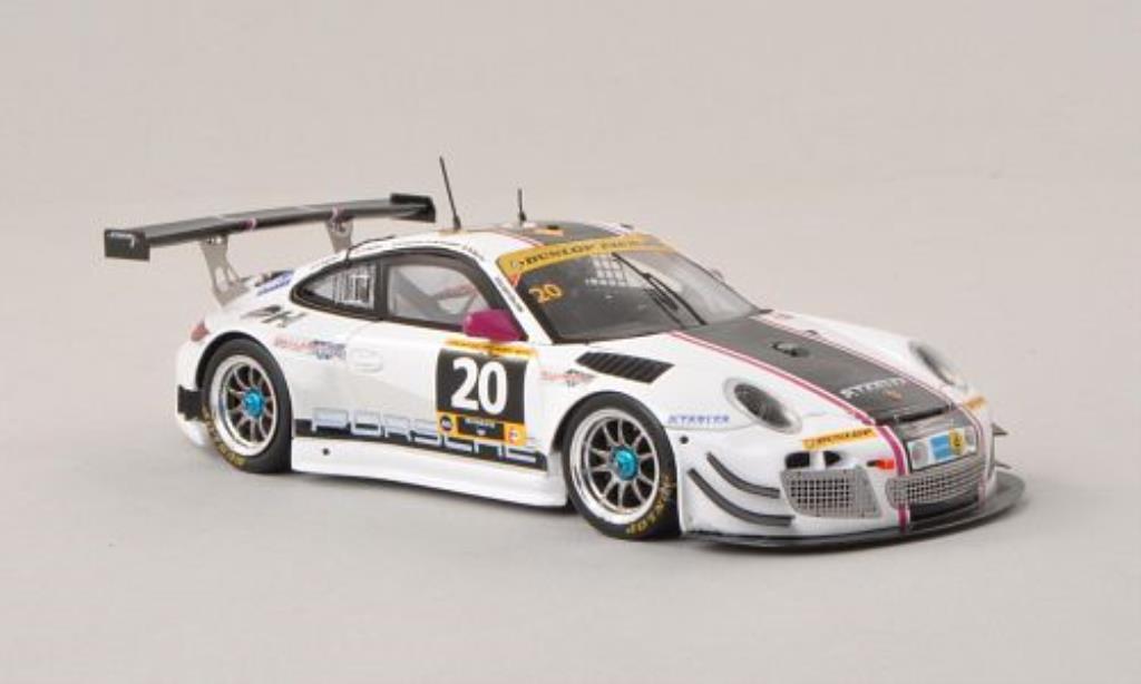 Porsche 997 GT3 1/43 Spark R No.20 Stadler Motorsport 24h Dubai 2014 /C.Engelhart coche miniatura
