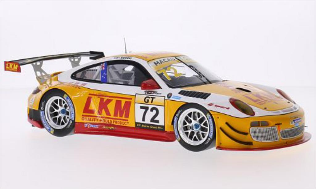 Porsche 997 GT3 1/18 Spark R No.72 LKM GT Asia Macau GT Cup 2014 diecast model cars
