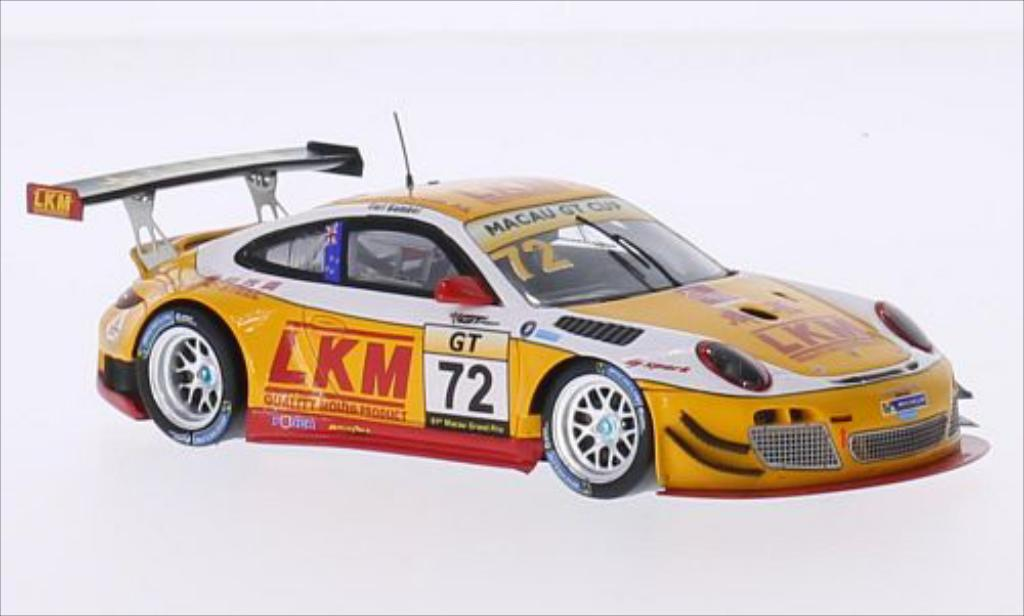 Porsche 997 GT3 1/43 Spark R No.72 LKM GT Cup GP Macau 2014 modellino in miniatura