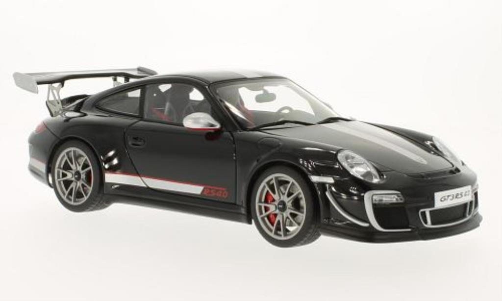 Porsche 997 GT3 1/18 Autoart 4.0 black 2011 diecast model cars