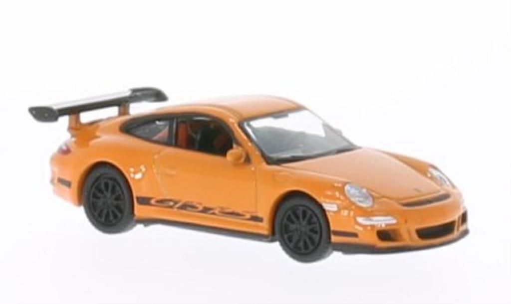 Porsche 997 GT3 1/87 Welly orange diecast model cars