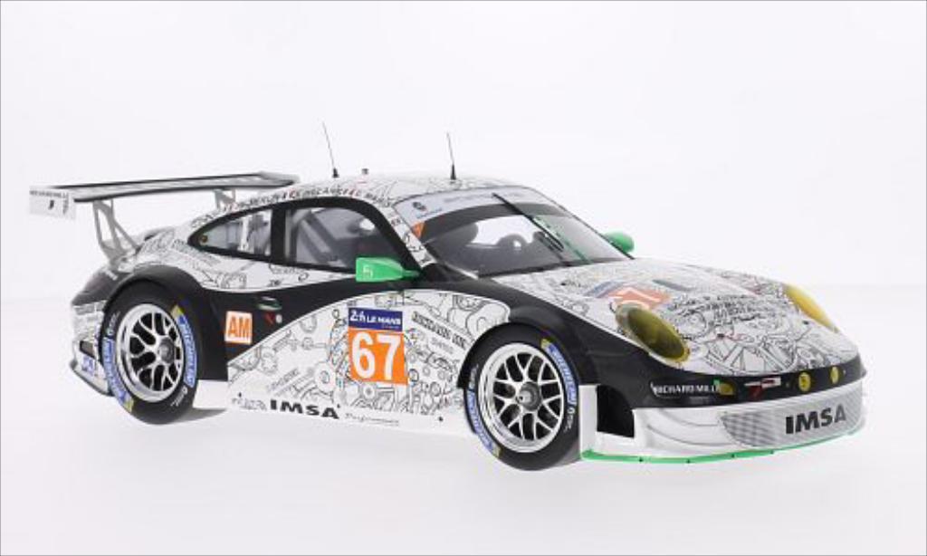 Porsche 997 GT3 1/18 Spark R No.67 IMSA Performance Matmut 24h Le Mans 2014 /J.M modellino in miniatura