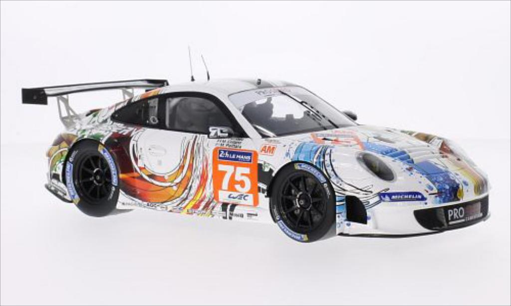 Porsche 997 GT3 1/18 Spark R No.75 Prospeed Competition 24h Le Mans 2014 diecast model cars