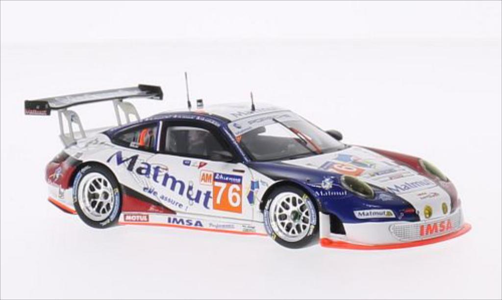 Porsche 997 GT3 1/43 Spark R No.76 IMSA Performance Matmut Matmut 24h Le Mans 2014 /D.Hallyday coche miniatura
