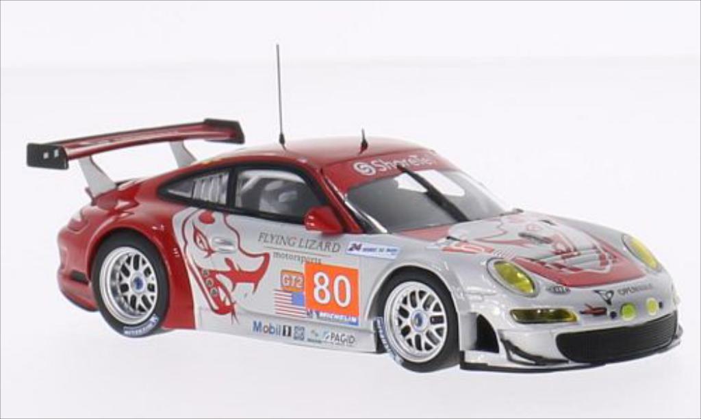 Porsche 997 GT3 1/43 Minichamps R No.80 Flying Lizard Motorsport Openwave Le Mans 24h Le Mans 2010 /Bergmeister modellautos