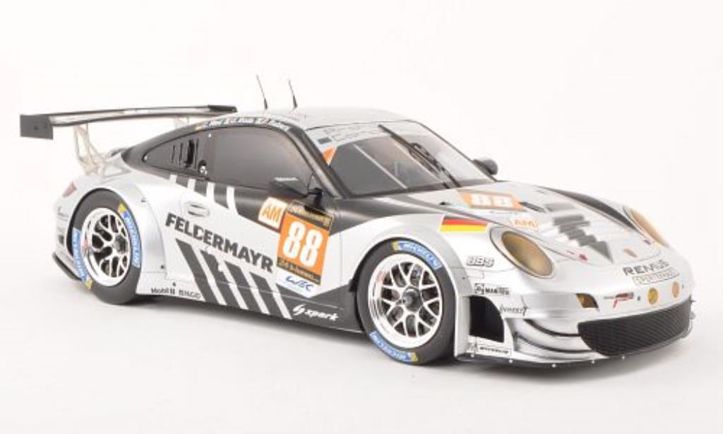 Porsche 997 GT3 1/18 Spark R No.88 Prougeon Competition 24h Le Mans 2013 /P.Ruberti miniature
