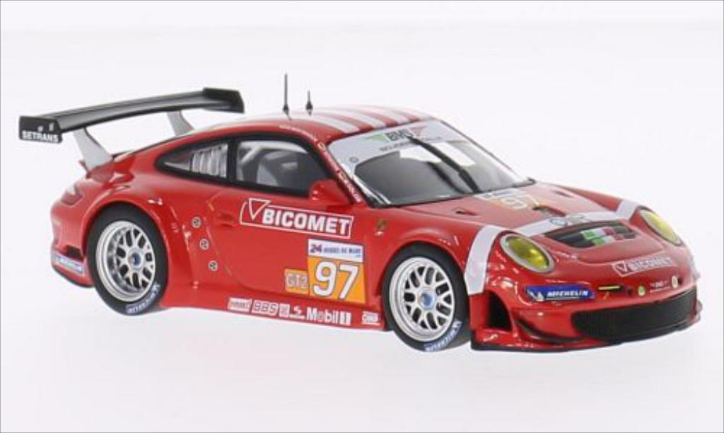 Porsche 997 GT3 1/43 Minichamps R No.97 BMS Scuderia Italia Bicomet Le Mans 24h Le Mans 2010 /R.Westbrook coche miniatura